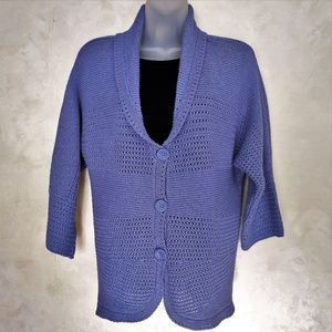 3/4 Sleeve Cardigan by Appleseeds EUC L